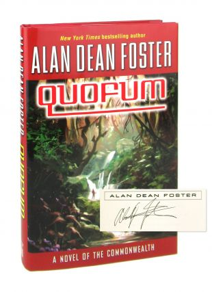 Quofum: A Novel of the Commonwealth [Signed]. Alan Dean Foster