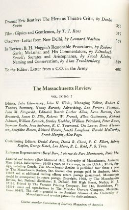 """""""The Boat,"""" The Massachusetts Review: Spring 1968 [Signed, MacLeod's debut publication]"""