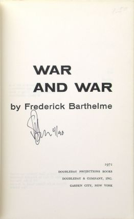 War and War [Signed and Dated]