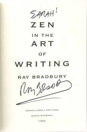Zen in the Art of Writing [Signed]