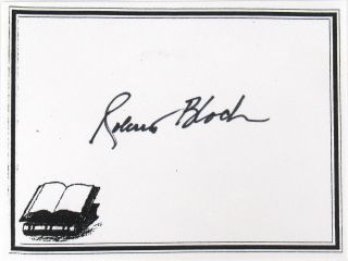 Blood Runs Cold [Signed Bookplate Laid in]