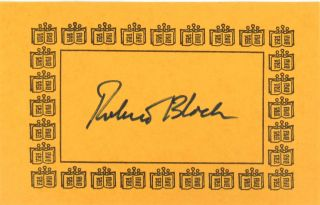 The Robert Bloch Companion: Collected Interviews, 1969-1986 [Bookplate Signed by Bloch Laid in]
