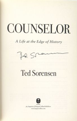 Counselor: A Life at the Edge of History [Signed]