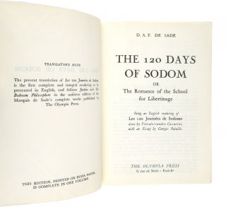 The 120 Days of Sodom, or The Romance of the School of Libertinage