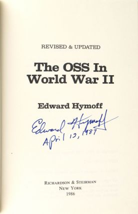 The OSS In World War II [Signed]