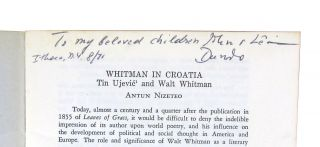 Whitman in Croatia: Tin Ujević and Walt Whitman [Contemporary Reprint from the Journal of Croatian Studies, Vol. XI-XII: 1970-71, pp. 105-151]