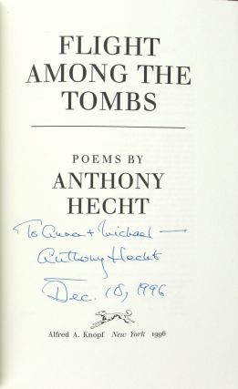 Flight Among the Tombs: Poems [Signed and Inscribed]