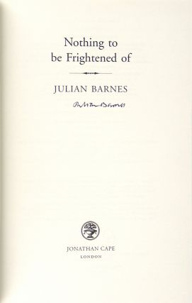 Nothing to Be Frightened Of [Signed]