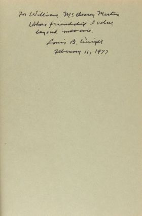 Of Books and Men [Signed to William McChesney Martin]