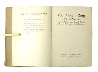 The Green Ring: A Play in Four Acts (Plays for a People's Theatre, Number Four)